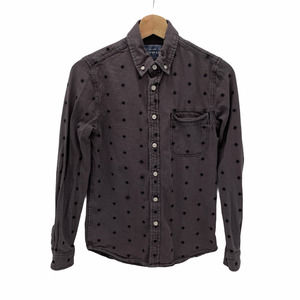 Topman Dark Gray Star Button Down Front Shirt XS